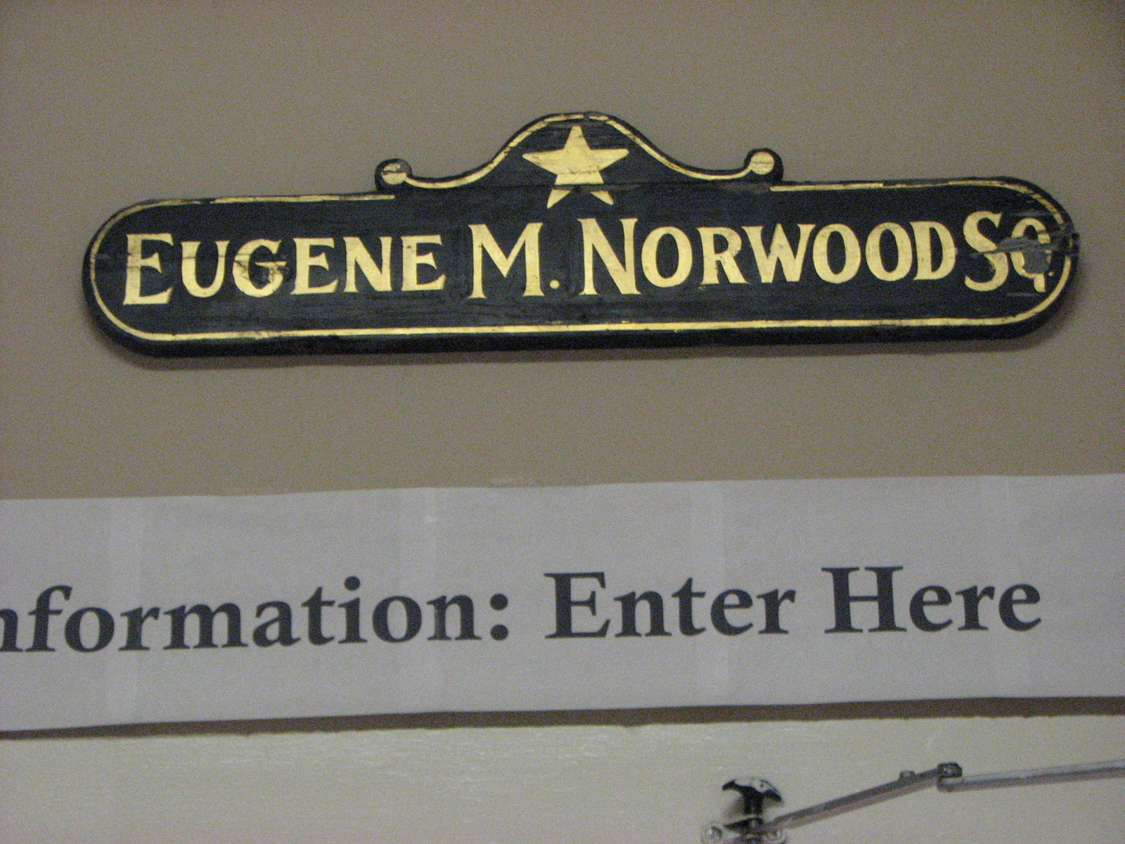 Eugene M. Norwood Square sign.