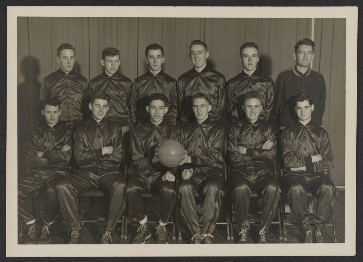 Pemetic High School Basketball Team, February 1948