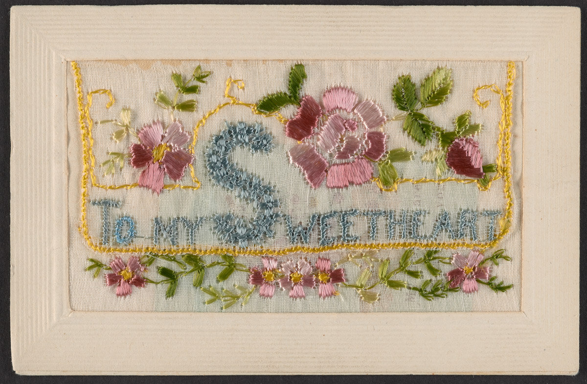 """To My Sweetheart"" Embroidery Postcard"