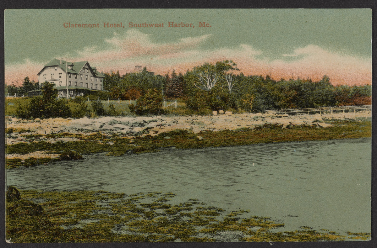 Postcard of the Claremont Hotel in Southwest Harbor, Maine