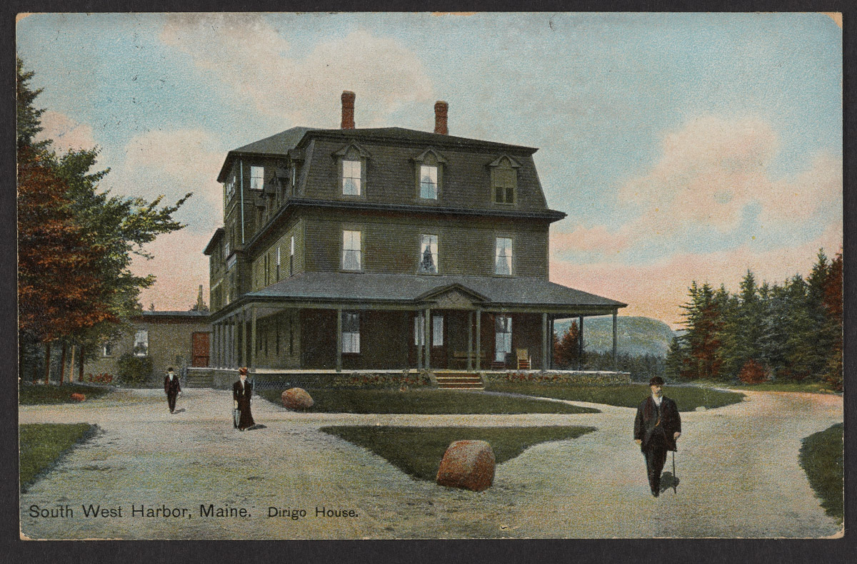 Postcard of the Dirigo House in Southwest Harbor, Maine