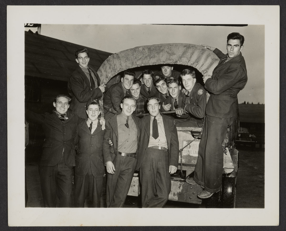 CCC Men with Truck Photograph, c. 1933-1942